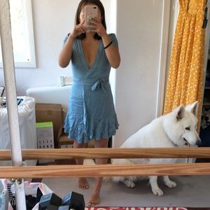 Urban outfitters blue wrap dress!